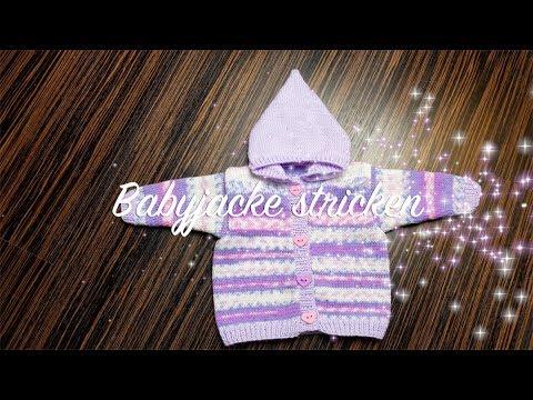 Babyjacke stricken | Jacke für Babys stricken komplette Strickanleitung | Häkelmädel