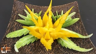 """Within this you will find a great idea """"How To Make Yellow Bell Pepper Carving Garnish - Art In Vegetable Carving"""" video. Please help SHARE and SUBSCRIBE.Bell Pepper Carving Playlist: https://www.youtube.com/watch?v=5pl36rTmTn0&list=PLTZOlFP0vpMSbuFVOKe7N6uc5Q6m_bP-kLike our fanpage: https://www.facebook.com/lavyfruity/Follow Us On: https://plus.google.com/100862637936254270593"""