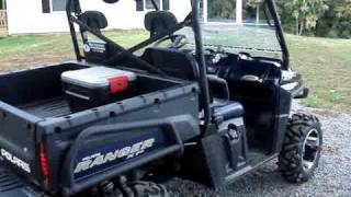 10. 800XP Polaris Ranger, Walk Around and Ride, GPS Speed