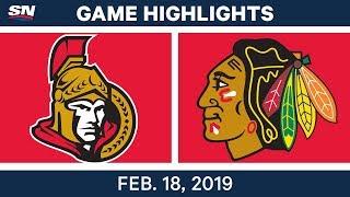 NHL Highlights | Senators vs. Blackhawks - Feb 18, 2019 by Sportsnet Canada