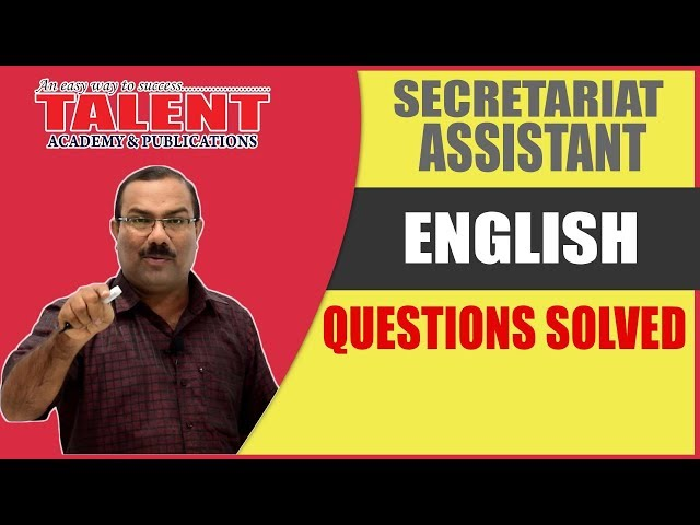 A Must Watch Analysis of English Questions | Secretariat Assistant Exam 2018