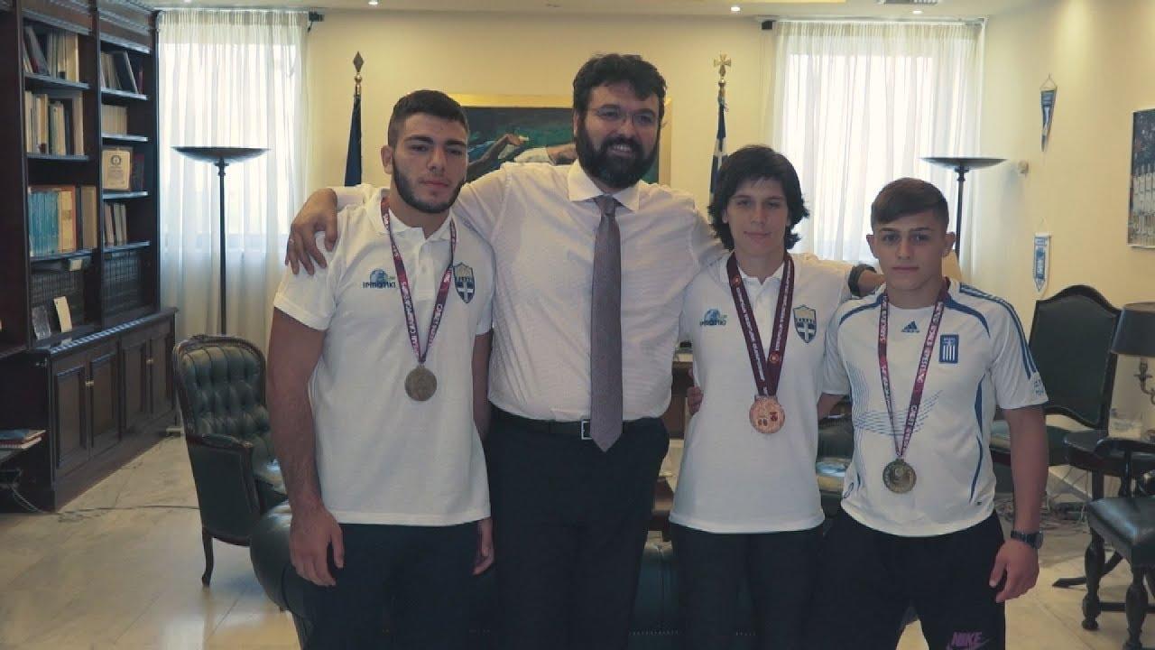 Ο Γ. Βασιλειάδης υποδέχτηκε τους πρωταθλητές Ευρώπης στην πάλη