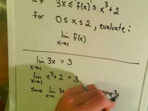 The Squeeze Theorem for Limits, Example 1