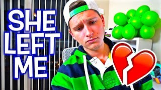 """she left me...not clickbait*SUBSCRIBE* & TURN ON NOTIFICATIONS! : LIKE & SHARE TO SUPPORT!Check out yesterday's vlog : LOGAN PAUL ARRESTED WITH JAKE PAUL PRANK ON GIRLFRIEND! **PRANK WARS GONE WRONG**  : https://goo.gl/qN49QN▬▬▬▬▬▬▬▬▬▬▬▬▬▬▬▬▬▬▬▬▬▬▬▬Business Email: bookofken@gmail.comSocial Media:Instagram: http://instagram.com/BookOfKenTwitter: http://twitter.com/BookOfKenSnapchat: http://snapchat.com/add/BookOfKenFacebook: http://facebook.com/BookOfKenCarley's YouTube Channel: http://youtube.com/BookOfCarleyCarley's Instagram: http://instagram.com/BookOfCarleyCarley's Snapchat: http://snapchat.com/add/BookOfCarleyCarley's Twitter: http://twitter.com/BookOfCarleyCarley's Facebook: http://facebook.com/BookOfCarleySEND US LETTERS OR WHATEVER TO OUR P.O BOX! :""""BOOKOFKEN, PO BOX 398533, Miami Beach, FL 33239""""▬▬▬▬▬▬▬▬▬▬▬▬▬▬▬▬▬▬▬▬▬▬▬▬Royalty Free Music by http://www.audiomicro.com/royalty-free-music&https://player.epidemicsound.com"""