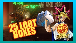 Today we trust in the heart of the cards to open 24 + 1 loot boxes for the Overwatch Year of the Rooster event! Join me as I search for that elusive D.Va Legendary skin.Check Pieman out! He also uploaded a video where he pulled 3 LEGENDARIES from one box: https://youtu.be/uUkPAjCMjDQDon't forget to leave a COMMENT to let me know what you thought about the video. Also drop a LIKE if you enjoyed it, and SUBSCRIBE for more videos!Links--------------------------------------------Facebook Page: https://www.facebook.com/jmotion0/Twitter: https://twitter.com/JMotion0