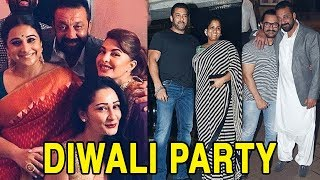 Full Video: Sanjay Dutt's GRAND Diwali Bash With Salman Khan And Others