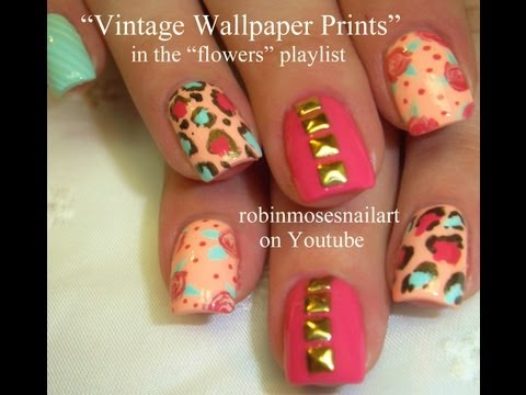 Assorted Vintage Prints - Antique Nail Design