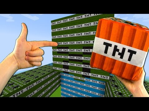 Realistic Minecraft - GIANT TNT MOBS EXPLOSION!