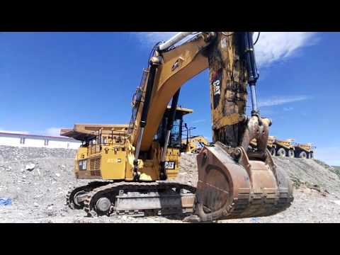 CATERPILLAR PALA PARA MINERÍA / EXCAVADORA 6018 equipment video iyr0uN5f60k