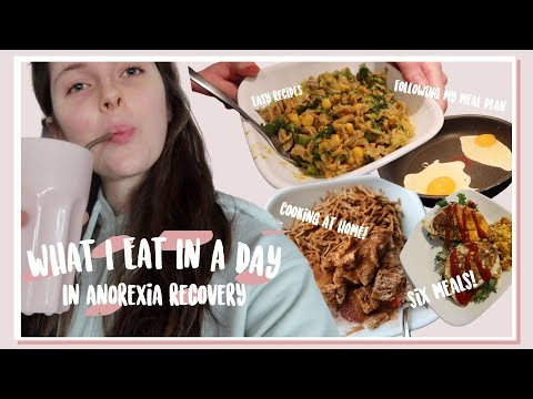 What I Eat In A Day of Anorexia Recovery #1 | A Day Home Alone