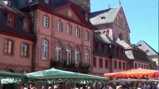 Mainz Germany  city photos : Mainz, Germany, Dom & Markt Sommer 2012, St. Martins Cathedral & farmers market. (HD)