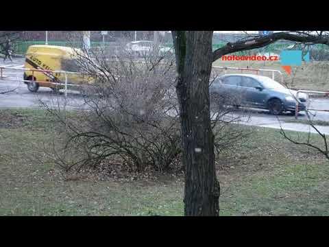 Sněhové vločky i Praze.