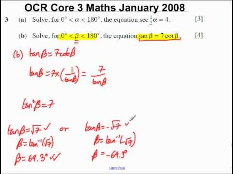 Q3 (b) Core 3 OCR Maths Januar 2008.mp4