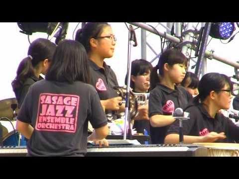 笹下中学校ジャズアンサンブル部②・meets JAZZ in 横浜開港祭2015