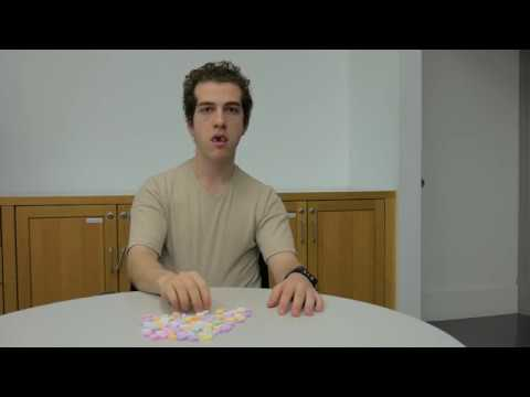 Embarrassing! This Man Can't Even Eat 100 Candy Hearts