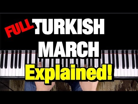 Turkish March - Piano Tutorial - Mozart (How To Play Lesson) Rondo Alla Turca