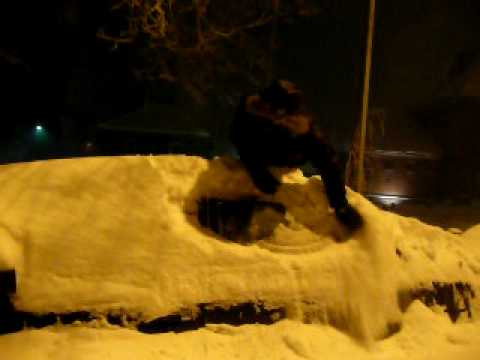 An Englishman Goes Crazy From Snow In Finland