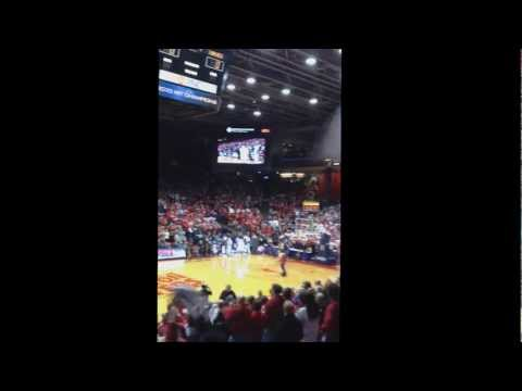 Dayton Flyer Chris Johnson (Drafted to NBA Memphis Grizzley's) Dances at UD Arena!!