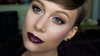 Glowing Skin Vampy Lip Makeup Tutorial