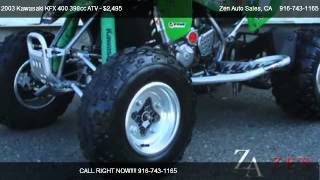 4. 2003 Kawasaki KFX 400 398cc ATV KFX 400 ATV - for sale in Sacramento, CA 95819