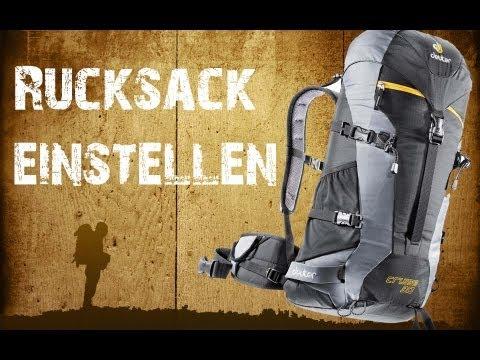 Backpacking - Trekkingrucksack richtig einstellen [HD]