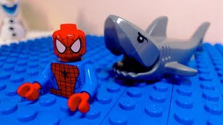 Video Lego Spider Man Shark Attack MP3, 3GP, MP4, WEBM, AVI, FLV September 2018