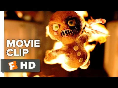 Krampus Movie CLIP - Gingerbread Men Attack (2015) - David Koechner, Adam Scott Movie HD