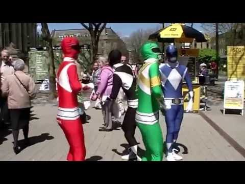 Mighty Morphsuit Power Rangers in Bolton: Part 4a: Town Center Mayhem