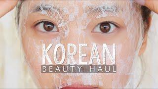 Korean Beauty Haul + Review