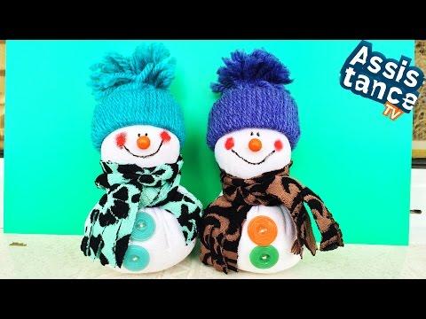 Снеговичок из ткани