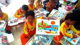 ANAK-ANAK MEWARNAI, Melatih Kreatifitas, Ketlatenan dan Kesabaran Anak-anak Melaui Lomba Mewarna
