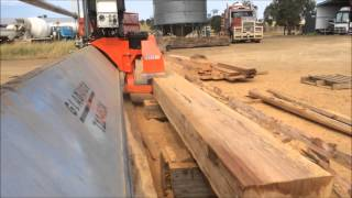 Injune Australia  city pictures gallery : SAWING SPOTTED GUM IN AUSTRALIA