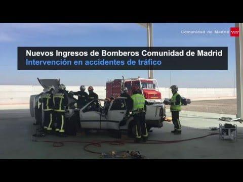 VIDEO – Nuevos Ingresos de Bomberos CM se forman en la intervención en accidentes de tráfico