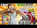 Plants vs. Zombies K'nex: The Football Mech Build & Review w/ Lexi (Motorized Fun!)