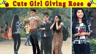 Video Cute Girl Giving Rose With A Twist || Epic Reactions || FUNDAY PRANKS MP3, 3GP, MP4, WEBM, AVI, FLV April 2018