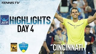 Watch highlights as Rafael Nadal, Grigor Dimitrov, Frances Tiafoe and Nick Kyrgios secure spots in the Western & Southern Open...