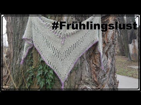 Dreieckstuch Frühlingslust stricken – Anleitung
