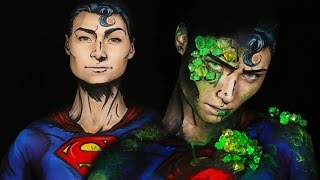 Kryptonite Superman/Superman Comic Makeup Tutorial by Madeyewlook