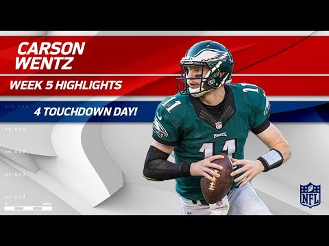Video: Carson Wentz's 4 TD Day vs. Arizona! | Cardinals vs. Eagles | Wk 5 Player Highlights