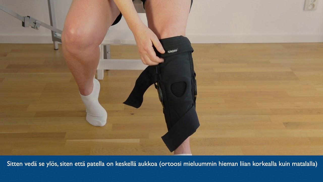 CROSS Knee Hyperextension Käyttöohjeet