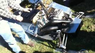 6. 1978 Polaris RXL 340cc SuperStock Race Sled Running in 2009