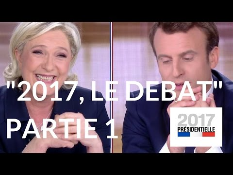 """""""2017, le débat"""" : Marine Le Pen – Emmanuel Macron (France 2) – Première partie."""