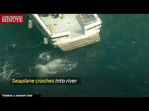 Seaplane crashes into river