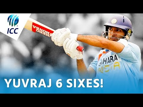 Yuvraj blasts 6 Sixes from a Stuart Broad over! | ICC Flashback