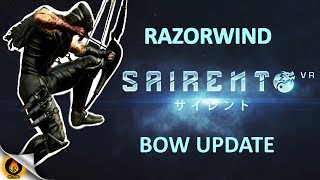 """oVRactive's RageMaster takes the new bow """"RazorWind"""" through its paces in the new update for Sairento VR, the high-action ninja game. Featuring bladed limbs and over-penetration when at full draw this weapon adds yet another gameplay variation to what is rapidly becoming the best action gaming title in Virtual Reality. Wall running, sliding and bullet dodging interspaced with high-velocity arrow impalement, using the most dynamic of movement options available.Soundtrack by the awesome Evan King, used under Creative Commons.https://evanking.bandcamp.com/"""