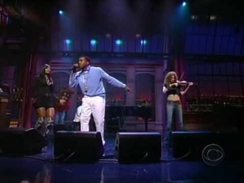 Kanye West ft Syleena Johnson & Miri Ben Ari - All Falls Down [LIVE] @ Letterman