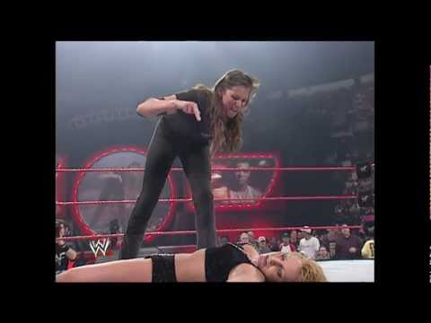 stephanie - Highlights from WWE No Way Out 2001 - Stephanie McMahon vs. Trish Stratus.