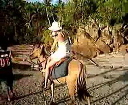 Mom Gwen horseback ride