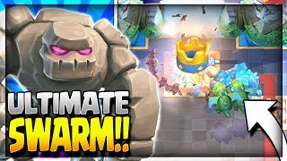 Ultimate Golem Swarm Deck!! Golem Mirror Clone - 3 Crown Madness! Golem Nightwitch Baby Dragon Clone Mirror Deck in Clash Royale! Golem Deck for Legendary Arena 11, Hog Mountain Arena 10 and Jungle Arena 9.~~~Free Gems: http://mistplay.co/shane ~~ Invite Code: ShaneWhat do you guys think is the best golem deck? let me know in the comments!Click here to Subscribe: http://www.youtube.com/channel/UCTsFqvFocRsP6YmdzPdHwCw?sub_confirmation=1Follow me on Twitter: https://twitter.com/CLASHwith_SHANEJOIN MY CLANS:Clan 1: CHILLwithSHANEClan 2: CLANwithSHANEIf you enjoyed the video, please like and subscribe. New Clash Royale Content every day!Clash Royale  Clash Royal Gameplay & Strategy  Clash Royale Tips Tricks GuidesIntro Music: Jetta - I'd Love to Change the World (Matstubs Remix)Outro Music: Hey Now by MK2Thanks for watching! Have an awesome day!