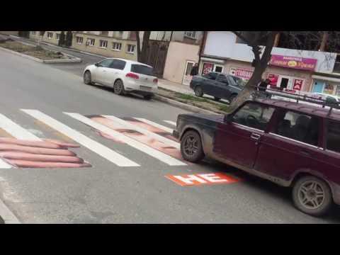 В Махачкале появилась зебра Навального